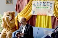 Hier bin ich beim Zirkus Bibliotheca mit unserem Bürgermeister Herrn Andy Haugk