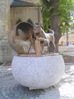 Stadtbrunnen mit Wahrzeichenfiguren [(c) Stadt Hohenmölsen]