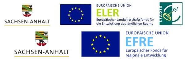 Logos ELER Leader und EFRE